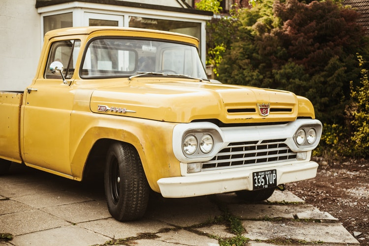 vintage truck for parts pickup